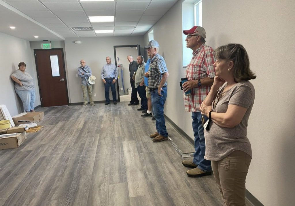 County Board, Ministerial Alliance, and food pantry volunteers got to see the inside of the newly remodeled county building, formerly the Masonic Lodge, in downtown Benkelman last week